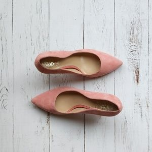 Vince Camuto Small Pink Suede Heel